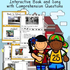 A primary book about back to school with questions