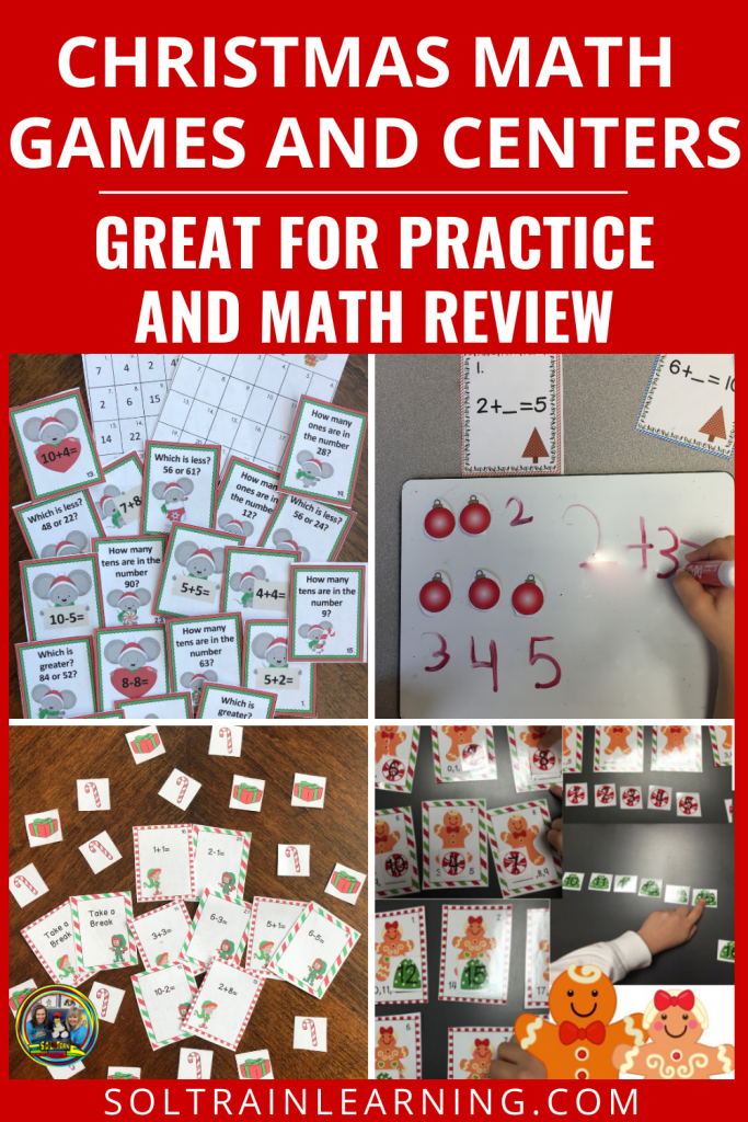 Christmas Math Games and Centers