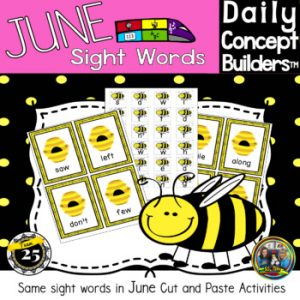 picture of bee sight words