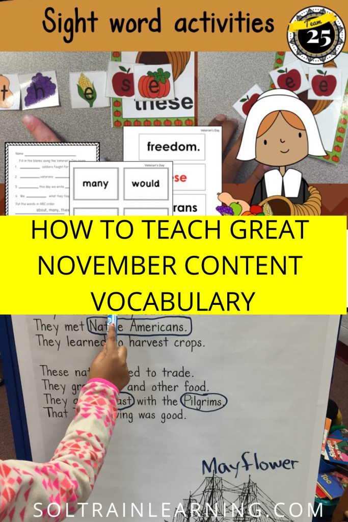 Picture of November Vocabulary