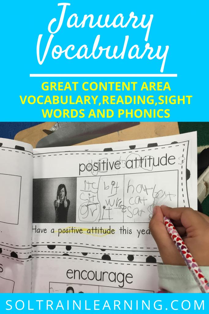 January Vocabulary Emergent Reader