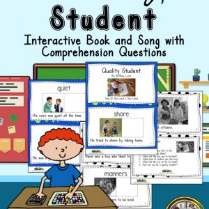 Vocabulary Book about Behavior with questions