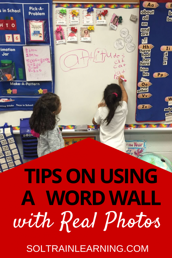 2 ELL students using word wall words